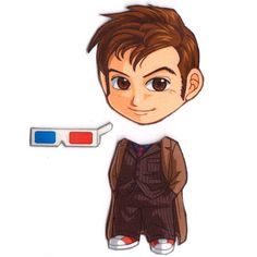 Mix and Match Magnets Tenth Doctor Doctor Who by cosplayscramble, $4.00