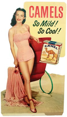Camel Cigarette sign 1940s. Jimmy smoked.  What brand???  He doesn't need to be remembered for smoking....