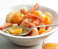 Shrimp with Peppered Citrus Fruits