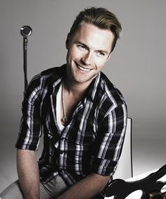 Ronan Keating in a Plaid Shirt. Be careful with plaid. Some can pull it off, some can't at all. There is no imbetween.