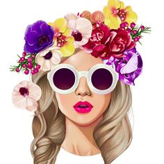 Excited to share details about this one in the near future...  #bookcover  #digitalpainting #floral #crown #color #lips #sunnies #pretty #immaread