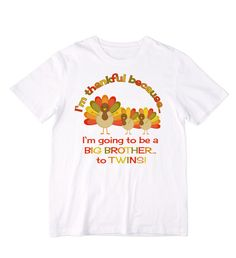 Thanksgiving Turkeys Twin Pregnancy by siblingspecialtees on Etsy