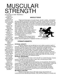 Muscular Strength Exercises | Exercises Misc | Pinterest