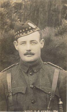 Liverpool Scots Officer, Lieut D.P. Kendall, KIA 1915