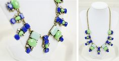 J.Crew Inspired Dangling Shapes Necklace! Gorgeous!