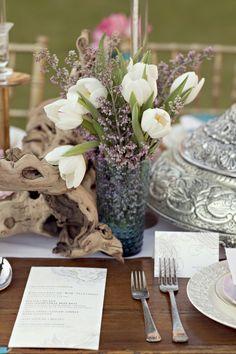 white and purple wedding flowers