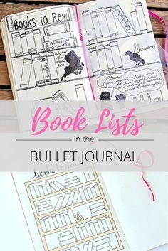 bullet journal book lists