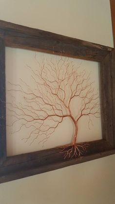 Excited to share the latest addition to my shop: Copper wire tree. Wire ar… Excited to share the latest addition to my shop: Copper wire tree. Sculptures Sur Fil, Copper Wire Art, Copper Wire Crafts, Copper Decor, Wire Art Sculpture, Metal Sculptures, Painting Shower, Popular Crafts, Metal Tree Wall Art