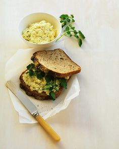 This updated egg salad uses fewer yolks, forgoes mayo, and takes on watercress and whole-grain bread. Top Recipes, Lunch Recipes, Salad Recipes, Healthy Recipes, Bariatric Recipes, Egg Salad Without Mayo, Hard Boiled Egg Recipes, Egg Salad Sandwiches, Breakfast Sandwiches