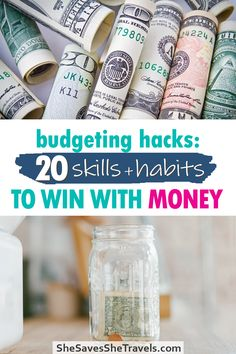 Want to pay off debt, budget money better or even build your emergency fund? These 20 money skills will help you accomplish your money goals, no matter how big or small. Find out which ones you should master to win with money! | Money Tips | Money Habits | How to Save Money | How to Budget Money | Budgeting Finances Budgeting Finances, Budgeting Tips, Debt Payoff, Money Tips, Saving Money, Goals, Big, Financial Planning, Save My Money
