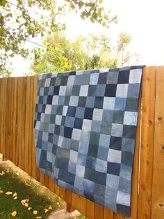 Denim Jean Quilt. $160.00, via Etsy.