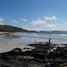 Sandy unspoilt beaches on the Isle of Mull