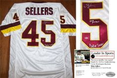 Mike Sellers Autographed/Hand Signed Jersey - Washington Redskins . $114.95
