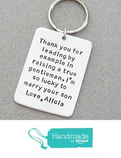 Wedding gift for father-of-the-groom - Stamped keychain gift for father-in-law from Belvidesigns http://www.amazon.com/dp/B01DVLI7W2/ref=hnd_sw_r_pi_dp_dZ0nxb1F62XFR #handmadeatamazon