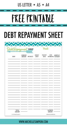 Pay Off Debt Tracker  Get Organized Planner Pages