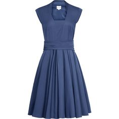 Reiss Nerissa Fit And Flare Dress (210 AUD) ❤ liked on Polyvore featuring dresses, vestidos, short dresses, vestiti, blue, mid blue, flared skirt dress, flared skirts, fit flare dress and blue mini dress