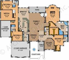 Royal County Down House Plan - Ranch Floor - House Plan -  First Floor Plan