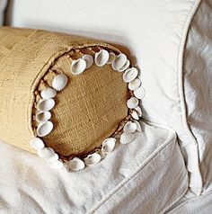 Shell embellished pillow: http://www.completely-coastal.com/2014/08/easy-seashell-decor-ideas-for-things-you-already-have.html