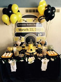 Bumble bee themed baby Shower Baby Shower Party Ideas | Photo 2 of 19 | Catch My Party