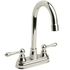 @Overstock - Remodel your bathroom with this luxurious polished chrome double-handle faucet. Manufactured from solid brass for long-lasting durability, this high-arc bar faucet features double handles and is finished with a shimmering chrome polish finish.http://www.overstock.com/Home-Garden/High-arc-Polished-Chrome-Bar-Faucet/5318092/product.html?CID=214117 $36.79