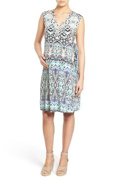 'Charmaine' Print Jersey Maternity Wrap Dress | Nordstrom. I love this print.