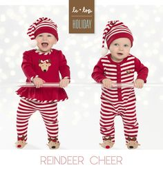 Cute brother and sister reindeer Christmas outfits from @letopusa Holiday 2014 Reindeer Cheer Collection! #PNapproved