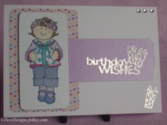 Birthday Card, Girl with a Gift £1.75