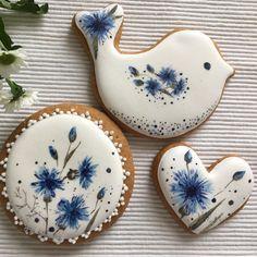 Cookies decoradas mama 62 ideas for 2019 Bird Cookies, Paint Cookies, Fancy Cookies, Flower Cookies, Biscuit Cookies, Cute Cookies, Easter Cookies, Royal Icing Cookies, Cupcake Cookies