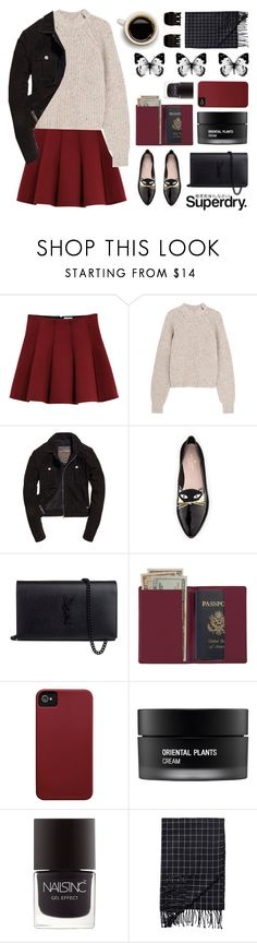 """""""The Cover Up – Jackets by Superdry: Contest Entry"""" by pickiestpeach ❤ liked on Polyvore featuring Outstanding Ordinary, Superdry, Étoile Isabel Marant, Kate Spade, Yves Saint Laurent, Royce Leather, Case-Mate, Koh Gen Do, Nails Inc. and Monki"""