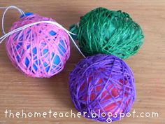 Embroidery Floss Easter Egg craft for kids