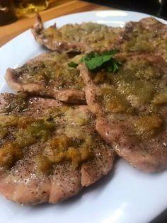 Fokhagymás karaj Food 52, Bacon, Pork, Food And Drink, Cooking, Kale Stir Fry, Kitchen, Pork Chops, Pork Belly