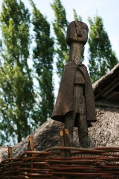 Archeon, the Netherlands - Statue of woman at village entrance