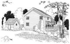 A-Frame House Plan ID: chp-29847 - COOLhouseplans.com
