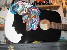 New York Postman Louis Yanez And His Extraordinary Hand-Painted Acoustic guitar: Bob Dylan
