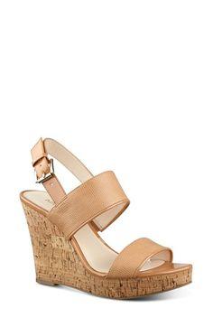 Nine West 'Lucini' Wedge Sandal (Women)