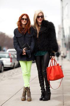 Taylor Tomasi Hill and Joanna Hillman use strategic pops of color. Mr. Newton  - HarpersBAZAAR.com