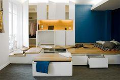Idées d'aménagement pour gagner de la place dans votre logement avec plus de rangements.
