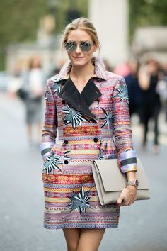 Olivia Palermo A coat that doubles as a mini-dress: killing two birds with one stone.  Photo: YoungJun Koo/I'M KOO
