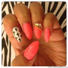 pink stiletto nail art » Nail Designs & Nail Art