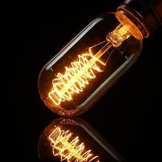 Vintage Edison Bulb Antique Light Bulbs, Vintage Lighting, Clear Glass, Light Fixtures, Vintage Antiques, Antique Lamps, Lighting, Lights, Light Fittings