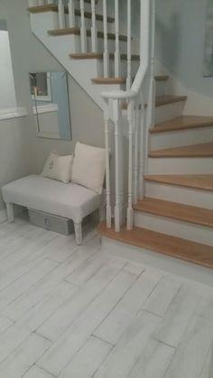 DIY floor. Handpainted faux wood panel floors #oldparquet Diy Flooring, Wood Paneling, Home Interior Design, Floors, Stairs, Hand Painted, Inspiration, Ideas, Home Decor