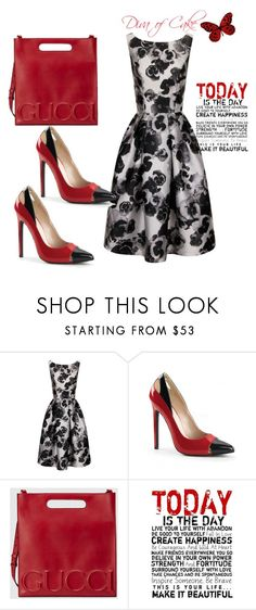 """""""Red and Black outfit"""" by Diva of Cake on Polyvore featuring Chi Chi, Gucci and Universal Lighting and Decor"""