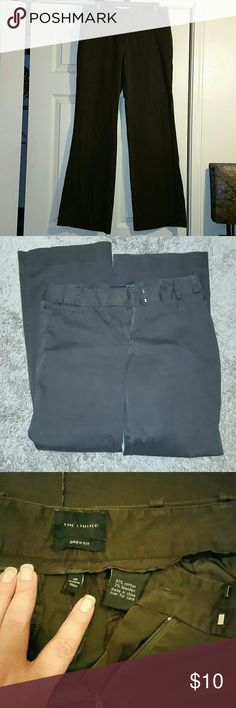 """Brown dress slacks from The Limited Drew fit size 10 dress slacks. Dark brown in color. The 3rd pic is the best representation of the color.  Rise is 9"""", waist is 16"""" laying flat, and inseam is 32"""". If you would like more pics let me know. My lighting isn't great. The Limited Pants"""