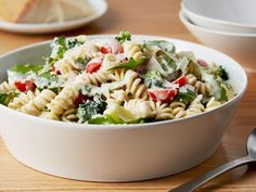 Recipe of the Day: Ina's Top-Rated Lemon Fusilli Pasta         Loaded with broccoli, grape tomatoes and zippy arugula, Ina's garden-fresh, quick-to-prep pasta meal is bound together with a creamy lemon sauce.