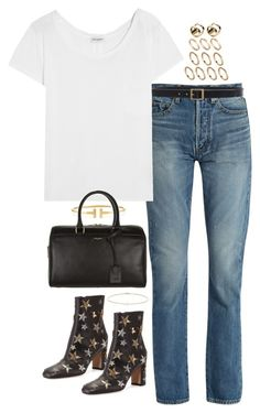 """""""Untitled #1779"""" by breannaflorence on Polyvore featuring Yves Saint Laurent, Frame, Valentino, ASOS, Tiffany & Co. and Minor Obsessions"""