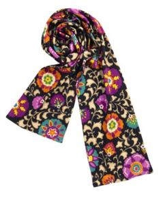 I would like this very much, please! Vera Bradley Kitted Scarf in Suzani, $46