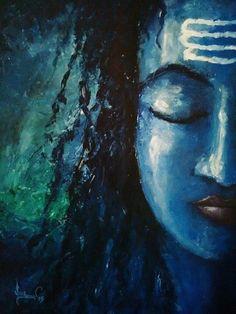 new Ideas for painting canvas ideas abstract awesome Mahakal Shiva, Shiva Art, Rudra Shiva, Shiva Statue, Hindu Art, Indian Gods, Indian Art, Shiva Lord Wallpapers, Shiva Tattoo