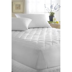 "Downright MP-TXL-POLY-20 39"" x 80"" x 20""D Polyester Fill Mattress Pad in White"
