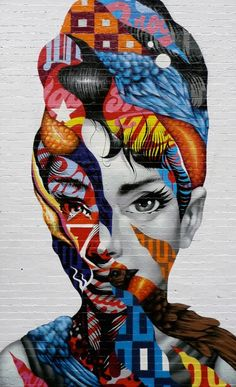 Tristan Eaton is a graffiti artist, street art muralist, illustrator, and toy designer. Born in Los Angeles in Tristan began pursuing street art as a teenager, painting everything from walls to billboards in the urban landscape. Banksy, Urbane Kunst, Inspiration Art, Arte Pop, Gcse Art, Street Art Graffiti, Graffiti Face, New York Graffiti, Graffiti Artwork