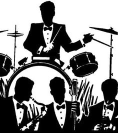 I'd want a tattoo along these lines. Silhouettes of my fave swing band members